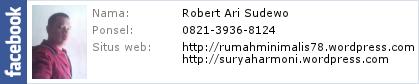 Profil Robert Ari Sudewo @ Facebook